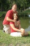 夫妇结婚了 免版税库存照片
