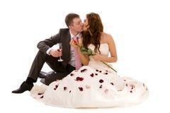 夫妇结婚的新 免版税库存图片