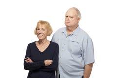 夫妇老人纵向前辈二 库存照片