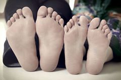 夫妇脚 库存图片
