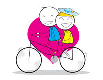 夫妇自行车 图库摄影