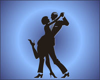 夫妇舞蹈探戈 库存照片