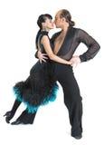 夫妇舞蹈演员拉提纳样式 库存照片