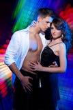 夫妇舞蹈跳舞拉丁 库存照片