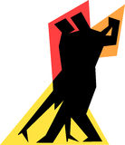 夫妇舞蹈eps简单的探戈 库存照片