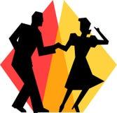夫妇舞蹈eps简单的摇摆 免版税库存图片