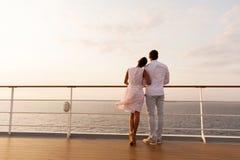 夫妇船甲板 免版税库存图片