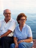 夫妇节假日前辈 库存图片