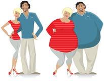 夫妇节食 免版税图库摄影