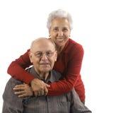 夫妇英俊的爱的前辈 免版税库存照片