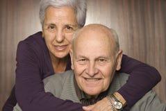 夫妇英俊的爱的前辈 库存照片