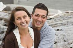 夫妇英俊的年轻人 库存图片