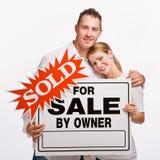 夫妇藏品销售额符号 免版税库存照片