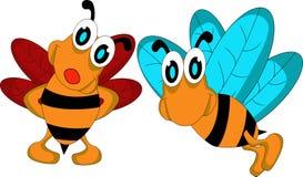 夫妇蜂动画片 库存照片