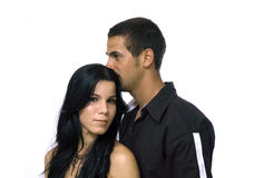 夫妇西班牙年轻人 免版税图库摄影