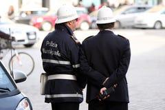 夫妇警察(罗马-意大利) 图库摄影