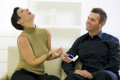 夫妇订婚爱 免版税库存图片