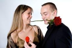 夫妇订婚 库存图片