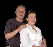 夫妇讲西班牙语的美国人纵向 库存照片
