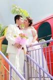夫妇诉讼婚礼 免版税库存图片