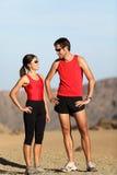 夫妇赛跑者 免版税库存图片