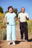 夫妇跑步的前辈 免版税库存图片
