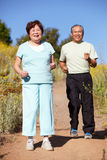 夫妇跑步的前辈 图库摄影