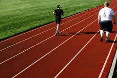 夫妇跑道 免版税库存照片