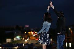 夫妇跳舞例证音乐会向量 图库摄影