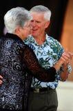 夫妇跳舞前辈 库存图片