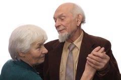 夫妇跳舞前辈 免版税库存图片