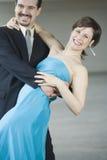 夫妇跳舞垂度 免版税库存照片