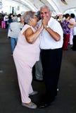 夫妇跳舞年长的人 免版税库存照片