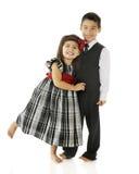 夫妇跳舞微小 免版税库存照片