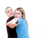 夫妇跳舞我 图库摄影