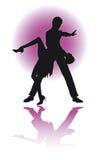 夫妇跳舞拉丁美洲人/eps 库存例证