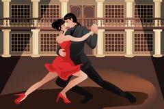 夫妇跳舞探戈