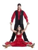夫妇跳舞摇摆 免版税库存照片