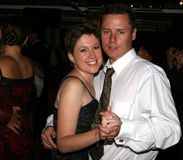 夫妇跳舞蜜月 免版税图库摄影