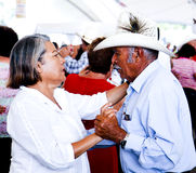 夫妇跳舞年长的人 库存图片
