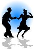 夫妇跳舞eps摇摆 免版税库存照片