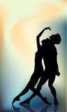 夫妇跳芭蕾舞者 皇族释放例证