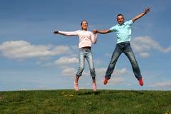 夫妇跳 图库摄影