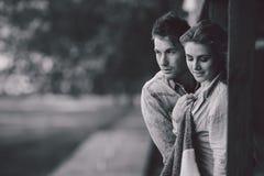 年轻夫妇身分和容忍 图库摄影