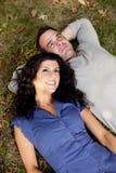 夫妇远期认为 免版税库存图片
