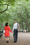 夫妇递藏品公园 库存图片
