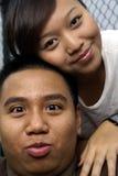 夫妇逗人喜爱的马来语 库存图片