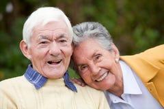 夫妇长辈 免版税库存图片