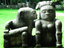 夫妇雕象 免版税库存照片