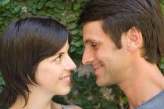 夫妇面对 免版税库存照片